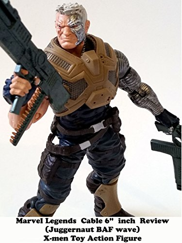 "Marvel Legends CABLE 6"" inch Review (Juggernaut BAF) X-men toy action figure"
