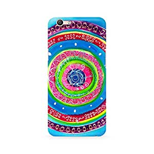 Ebby Concentric Circle Doodle Premium Printed Case For Oppo F1S