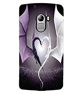 ColourCraft Amazing Love Dragons Design Back Case Cover for LENOVO A7010