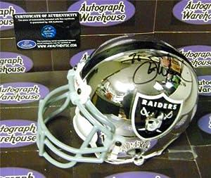 Steve Wisniewski Autographed Hand Signed Mini Helmet (Oakland Raiders) The Wiz by Hall of Fame Memorabilia