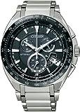 [シチズン]CITIZEN 腕時計 ATTESA アテッサ Eco-Drive エコ・ドライブ 電波時計 ワールドタイム クロノグラフ ジェットセッター ダイレクトフライト ATD53-3081 メンズ
