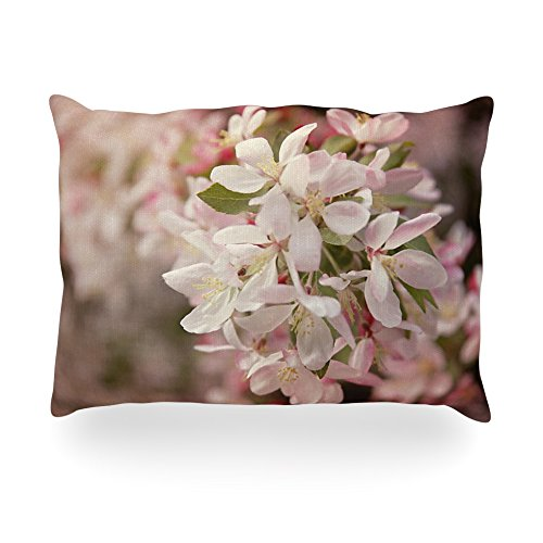 "Kess Inhouse Angie Turner ""Apple Blossoms"" Pink Flower Oblong Rectangle Outdoor Throw Pillow, 14 By 20-Inch front-996354"