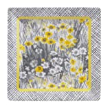 C.R. Gibson Iota Vera Collections Melamine Square Salad Plate, Summer Meadow, 8.5-Inch, Yellow