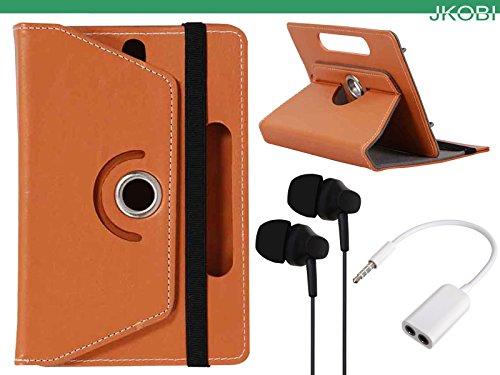 Jkobi Combo of Tablet Book Flip Flap Case Cover With Latest Designed Earphones & Splitter Cable Compatible For Acer Iconia A1 713 -Brown  available at amazon for Rs.345