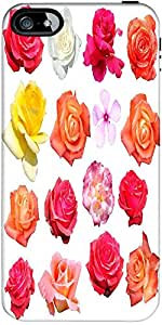 Snoogg Rose Flowers Isolated Designer Case Cover For Apple Iphone 4 / 4S