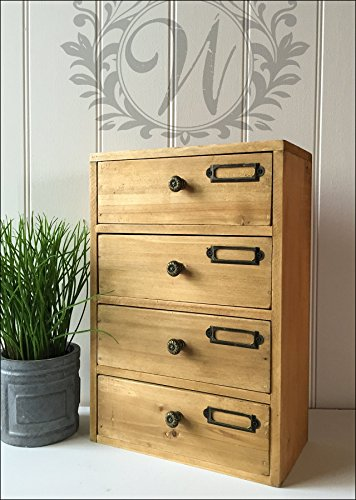 kommode 4 schubladen holz schrank aufbewahrung organizer home office hoch einheit m belrado. Black Bedroom Furniture Sets. Home Design Ideas