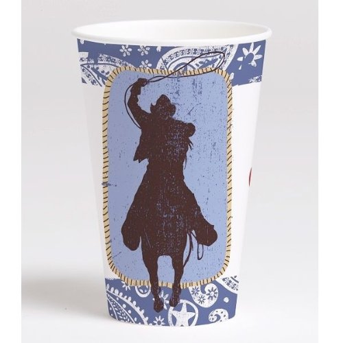 Western Lasso 12 oz. Paper Cups (8 count) Party Accessory