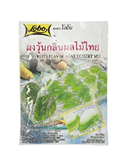 Lobo ,Agar Jelly Powder Dessert Mix Thai Fruits Flavor - 4 Ounces