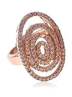 My Silver Anillo Espiral Circonita