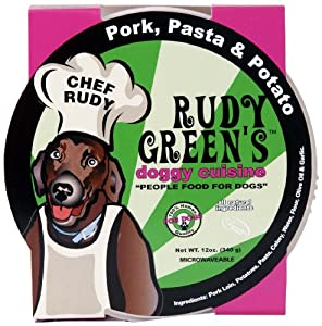 Rudy Greens Doggy Cuisine Pork, Pasta and Potato, 12-Ounce Units (Pack of 8)