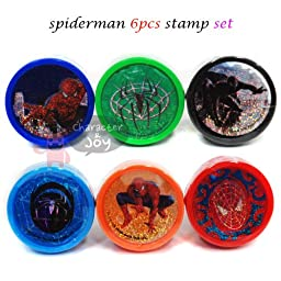 Spiderman 6pcs Stamp Set