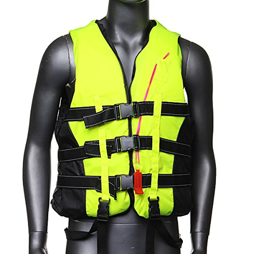 Life jacket vest pfd fully enclose foam adult boating whistle size