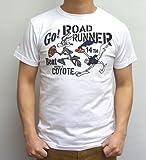 チェスウィック CHESWICK Tシャツ CH77052 ロードランナー ROAD RUNNER ワイリーコヨーテ BEAT WILE E.COYOTE ホワイト色
