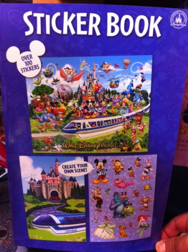 Disney Parks Sticker Book Create Your Own Scenes Over 100 Stickers NEW