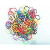 Ateam Loom Bandz, Gummibänder in verschiedenen Farben, 600 Stück, inklusive 25 Klammern Silicone