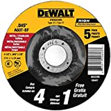 DEWALT Cutting Wheel, All Purpose, 4-1/2-Inch,  5-Pack (DW8424B5) (Tamaño: 4-1/2-Inch by 0.045-Inch)