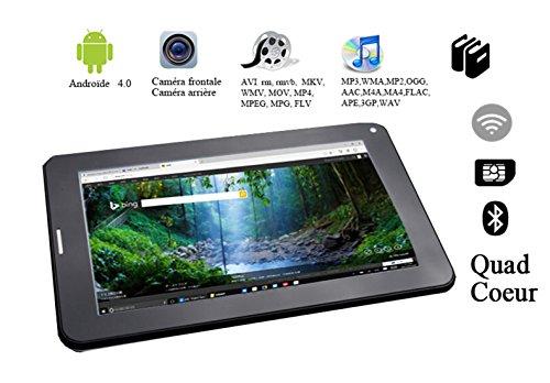 G-Anica 7 Zoll Phablet Smartphone (Unlocked Ohne Vertrag) Tablet PC Dual Core Dual SIM Android 4.0 1GB RAM 8GB ROM Bluetooth GPS WIFI (schwarz)