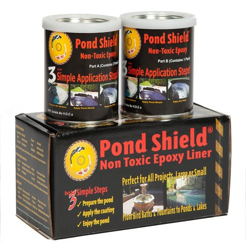 Pond Armor SKU-CLEAR-QT-R Non-Toxic Pond Shield Epoxy Paint, 1.5-Quart, Clear (Pond Sealer compare prices)