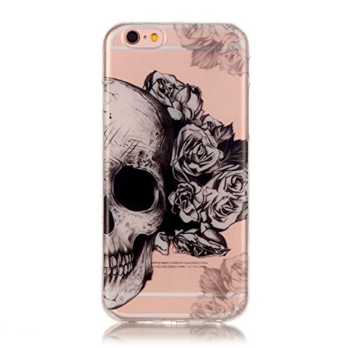 iPhone 7 Plus Case, Firefish Ultra Slim Soft Flexible TPU Clear Case Anti-Slip [Shock Absorption] Scratch-Resistant Protect for Apple iPhone 7 Plus - Flower