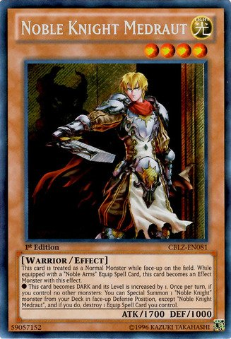 Yu-Gi-Oh! - Noble Knight Medraut (CBLZ-EN081) - Cosmo Blazer - 1st Edition - Secret Rare - 1
