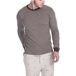 Zobello Men's Sweatshirt (21026C_Heather Brown_Medium)