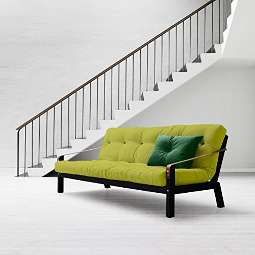 Karup-Poesie-Sofa-Bett-Futon-natur-Holz-Rahmen