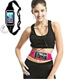 Exercise Running Belt with Expandable Pocket for iPhone 6, 6S, 5, 5S, 5C, Samsung , Huawei , Moto ,HTC One and more (for the Phone Under 4.7 inches)