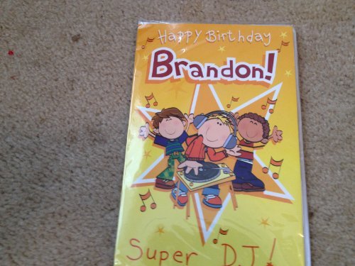 Happy Birthday Brandon - Singing Birthday Card - 1