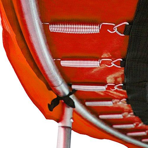 awm Trampolin Federabdeckung Randabdeckung 305 - 460 cm, PVC Randpolsterung (Rot, 396-400cm) -