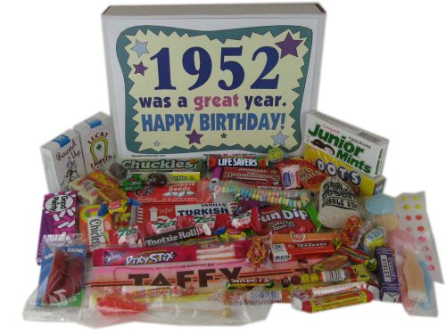 Candy Gift Baskets 50s Retro Candy Decade 60th Birthday Gift Box