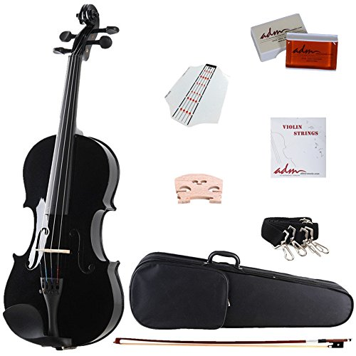 adm-4-4-full-size-handcrafted-solid-wood-student-acoustic-violin-starter-kitsviolin-hard-case-bow-ex