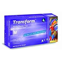 "Aurelia Transform 9889 Nitrile Glove, Powder Free, 9.5"" Length, 2.8 mils Thick"