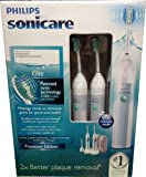 Philips フィリップ ソニッケア― Sonicare  エリート プレミアムエディション 本体2本 チャジャー2個 セット 並行輸入Philips Sonicare Elite Premium Edition Toothbrush with Massage mode Includes 2 Handles  3 Brush Heads and 2 Charger Packs