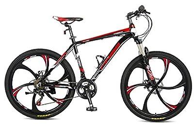 "Merax Finiss 26"" Aluminum 21 Speed Mg Alloy Wheel Mountain Bike (Stylish Black)"