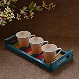Unravel India Wooden Multicolored Tray
