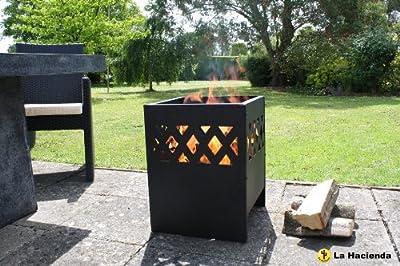 La Hacienda Ottawa Modern Fire Basket Incinerator Wood Burner