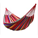 Sellify Red : 1 Set Portable 150 Kg Load-bearing Outdoor Garden Hammock Hang Bed Travel Camping Swing Survival...