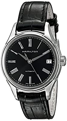 buy Hamilton Men'S H39415734 American Classic Valiant Stainless Steel Automatic Watch With Black Leather Band