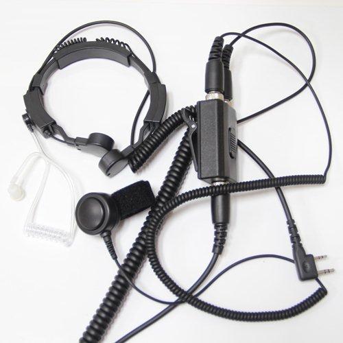 Profesional Táctico Military Laringófono Auricular Kit Bodyguard Transparente Con Micrófono Dedo PTT Para 2 pin Kenwood HYT PUXING WOUXUN LINTON Walkie Talkie