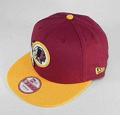 New Era Baycik Snapback NFL Washington Redskins Hat Cap Men size Burgundy/Gold