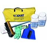 Stardust Spill Products D710 Quick Response Spill Kit Includes Heavy Duty Duffle, 2 Dispenser 3 lb, PPE Kit, Broom Head, Broom Handle, Dust Pan, 10 Disposal Bags