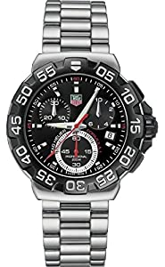 Tag Heuer Formula One Men's Quartz Watch with Black Dial Chronograph Display and Silver Stainless Steel Bracelet CAH1110.BA0850