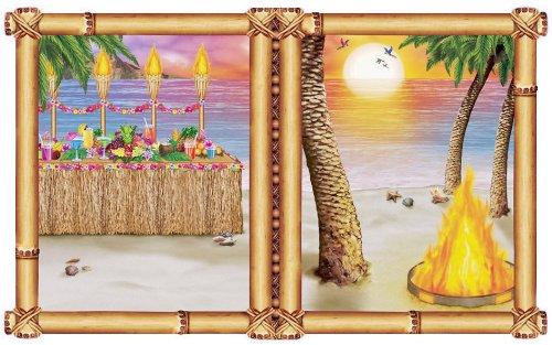 Scène décor de pièce Tropical Fenêtre Couché de Soleil