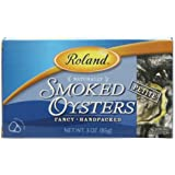 Roland Petite Smoked Oysters, 3-Ounce Cans (Pack of 10)