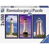 Ravensburger 16277 - Imposante Leuchttürme - 3 x 500 Teile Puzzle