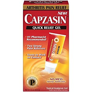 Capzasin Arthritis Pain Relief, Quick Relief Gel, No Mess Sponge Applicator 1.5 oz (42.5 g)