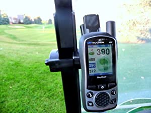 Caddie Buddy Holder Mount for SkyCaddie, sg5, SGX, SGXw. Slide the belt clip button on the back of your skycaddie into the mount. (I do supply the belt clip just not the button. It should be on the back of your skycaddie) On SGX gps unit the button snaps