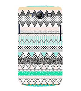 Zig Zag Dots Pattern 3D Hard Polycarbonate Designer Back Case Cover for Samsung Galaxy S3 :: Samsung Galaxy S3 i9300