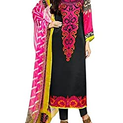 Shree Hari Creation Women's Poly Cotton Unstitched Dress Material (3847_Multi-Coloured_Free Size)
