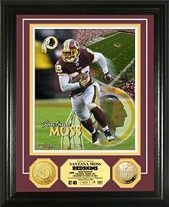 NFL Washington Redskins Santana Moss 24KT Gold Coin Photo Mint by Highland Mint